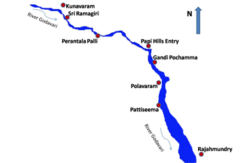 Godavari cruise map