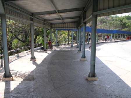 Walk way for devotees