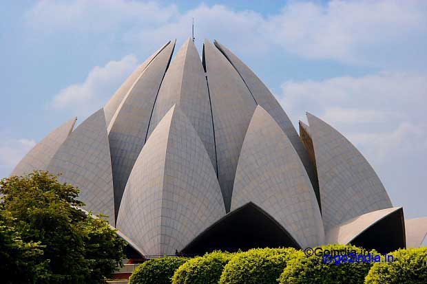 Lotus Temple Of Bahai Worship At New Delhi
