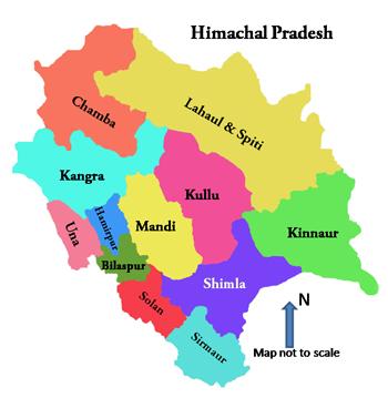 Image result for himachal pradesh map