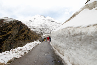 Marhi snow point before Rohtang pass