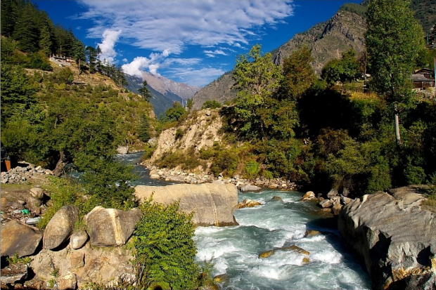 Baspa river at  Sangla