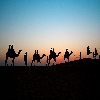 Sunset in Rajasthan desert