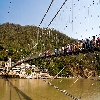 Ram Jhula over Ganga at Rishikesh