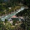 Alaknanda & Nandakini confluence at Nandprayag