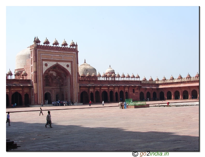 View from inside Fatehpur Sikri