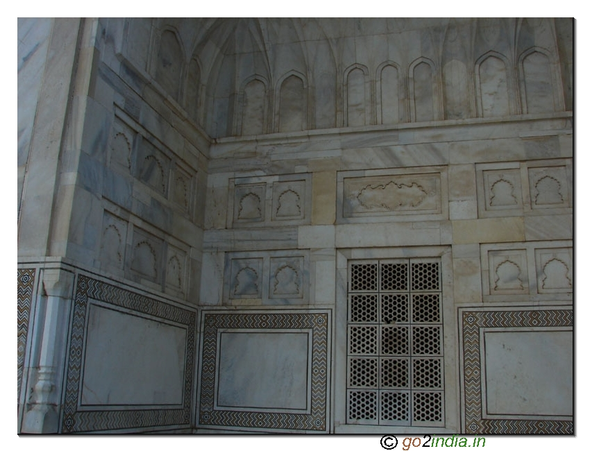 Taj Mahal design on marble stones