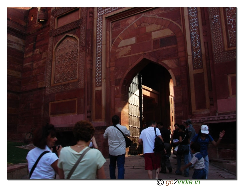 Entering to Agra Fort