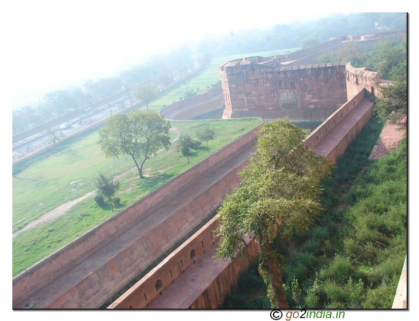 Agra Fort back side view
