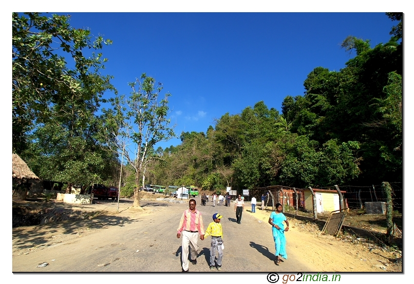 Forest end point check post near Baratang jetty of Andaman