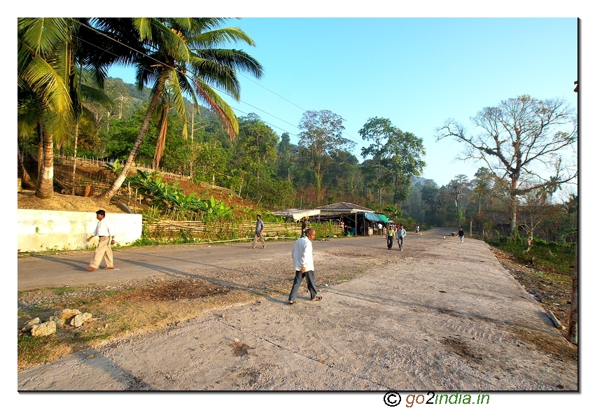 Check post at starting point of forest drive towards Baratang jetty in Andaman