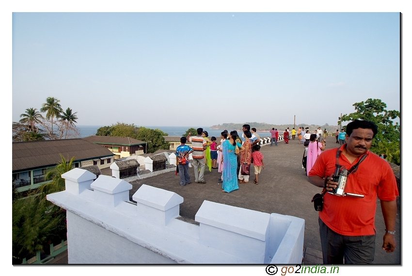 Cellular jail beach view from top