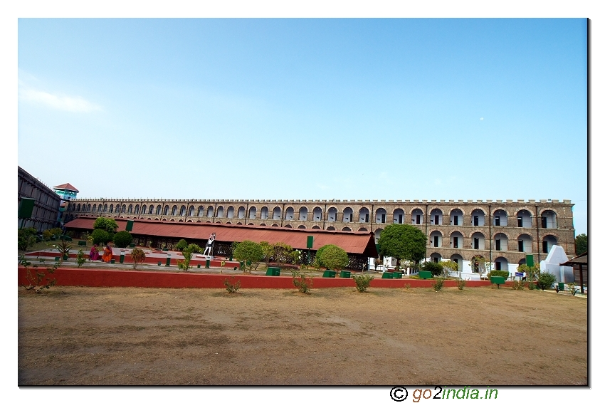 Cellular jail inside front view in Andaman