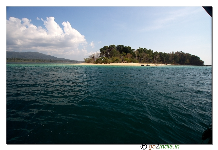 Jolly buoy island view from sea in Andaman