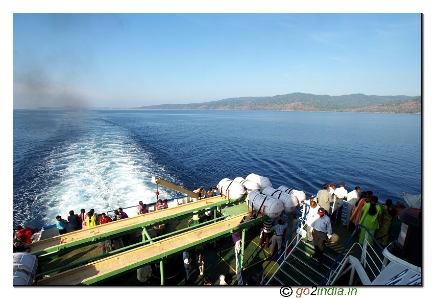 Deck view of the mid sea during Havellock journey at Andaman Islands