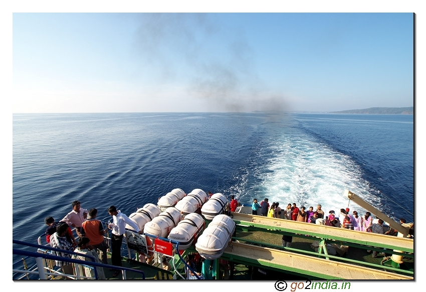 Middle of  Sea view from Ship during  Havellock journey Andaman Port Blair