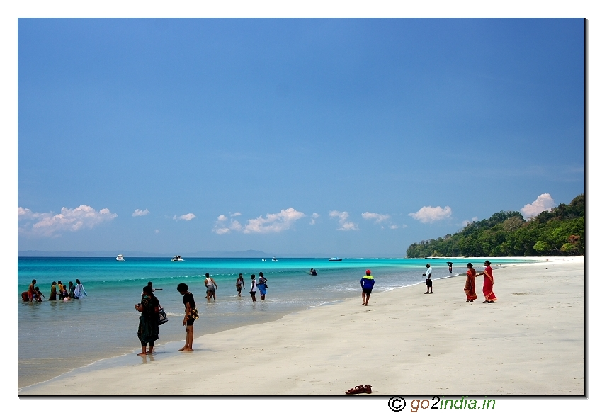 Havelock beach view in Andaman