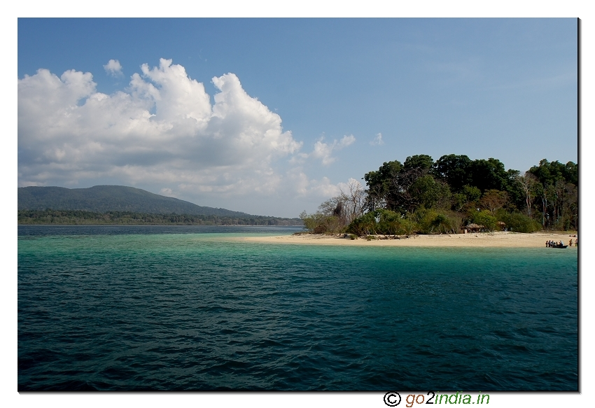 Partial view of Jolly buoy island in Andaman