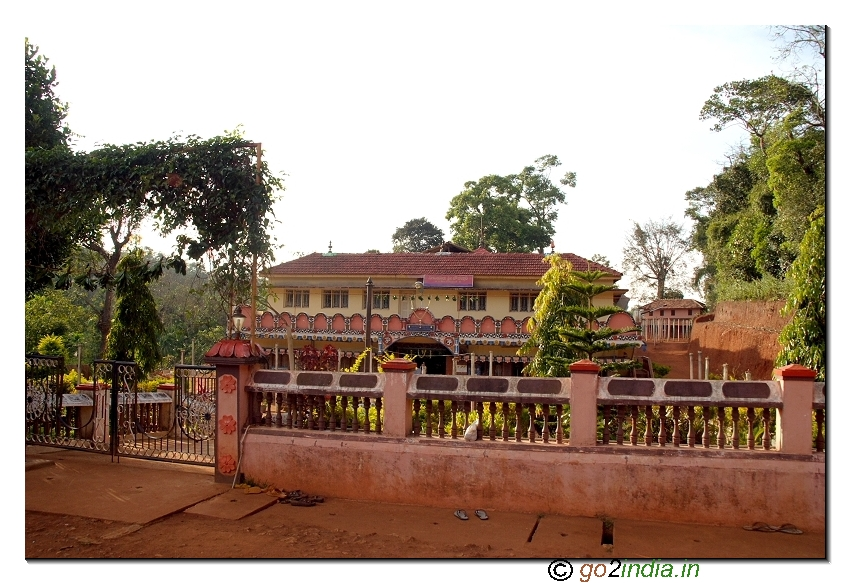 Complete view of Goddess chaudamma temple at Sigandur