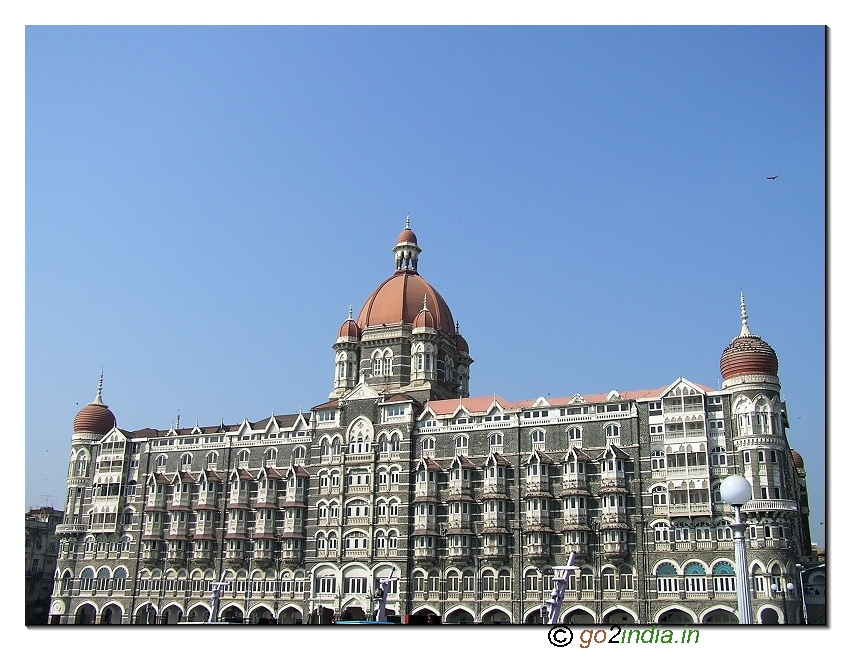 The Taj Mahal Palace hotel at South Mumbai near Gateway of India