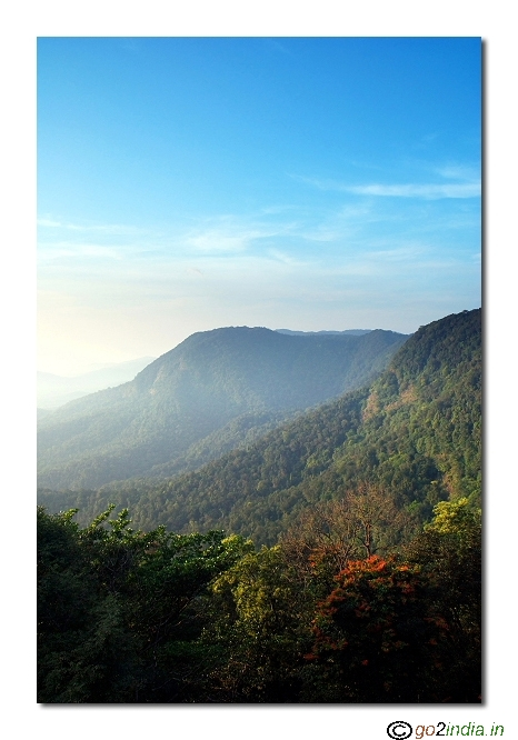 Blue sky and valley view at Agumbe peak