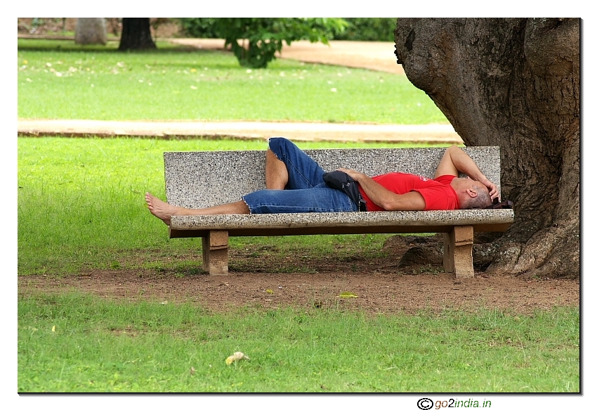 Go2india In Person Sleeping On A Bench