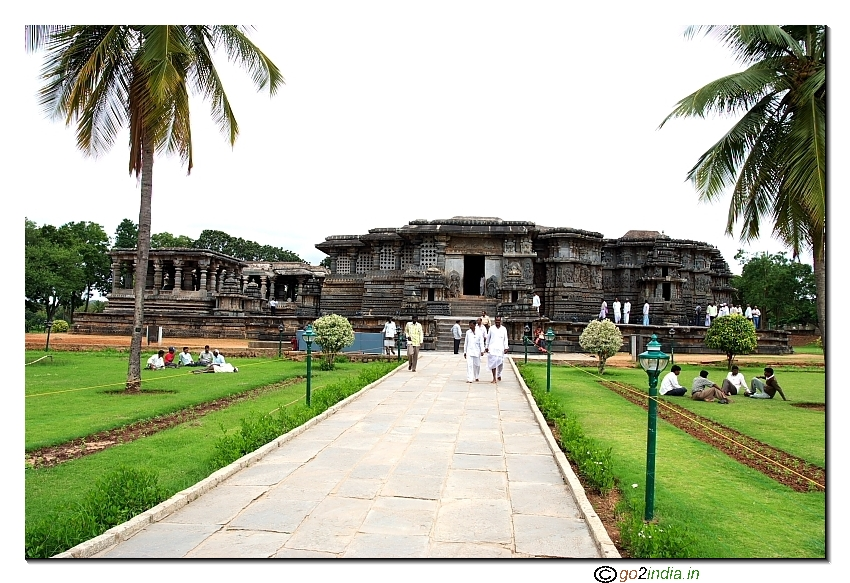 Front view of Hoysaleshwara temple at Halebid  near Hassan of Karnataka - India