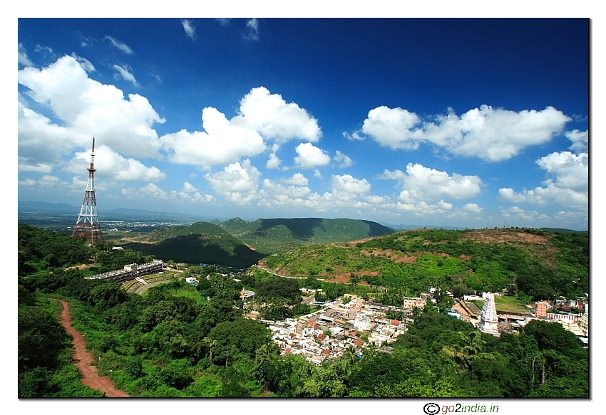 Simhachalam Tampe from hill top