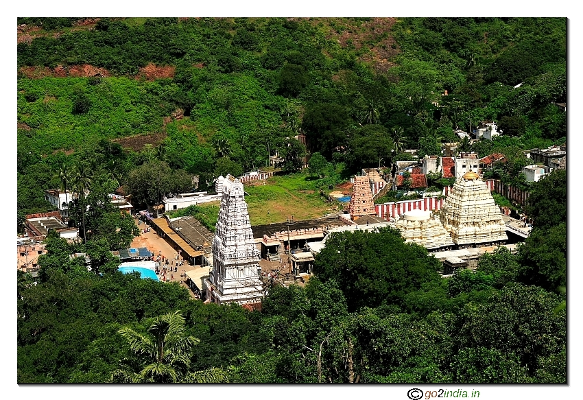 Simhachalam temple proper from hill top