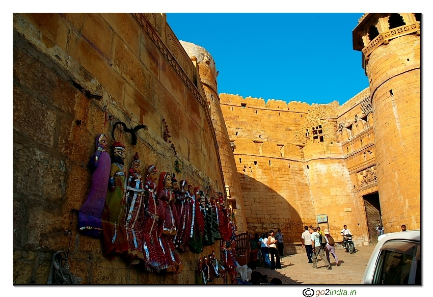 Rajasthan puppets on the wall of Jaisalmer fort