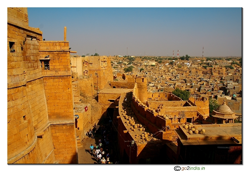 Fort and Jaisalmer town view