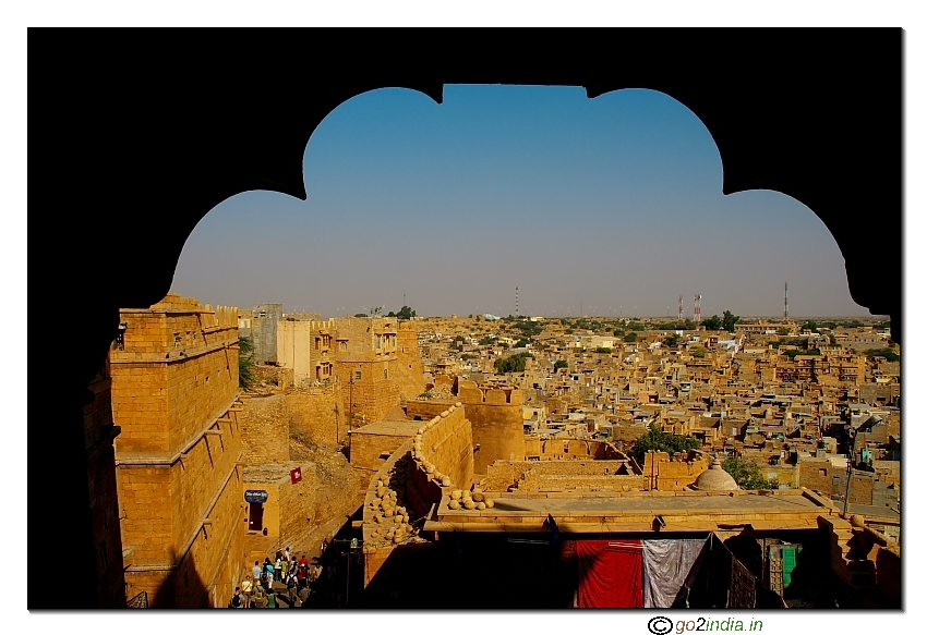View of Jaisalmer town from the fort