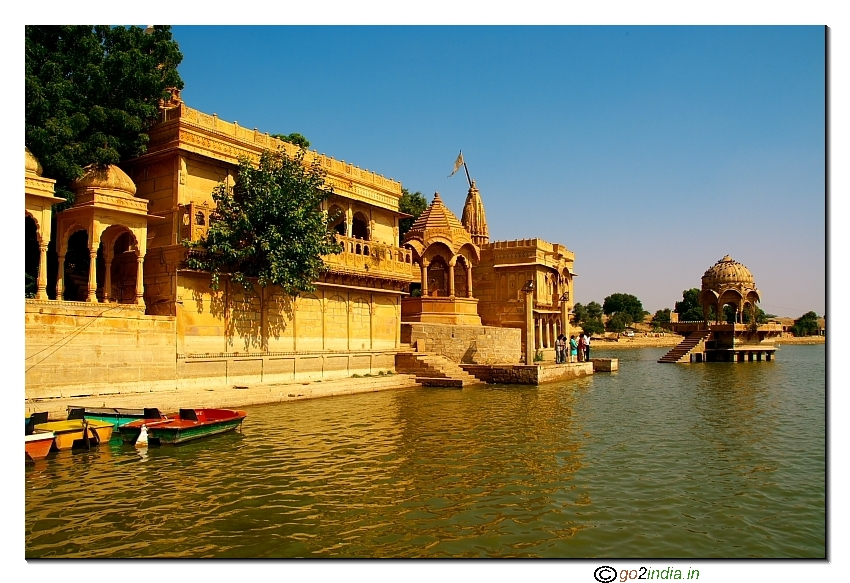 Lake to store rain water at Jaisalmer