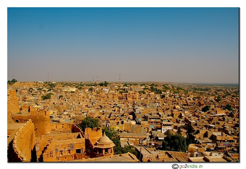 Jaisalmer town from Fort