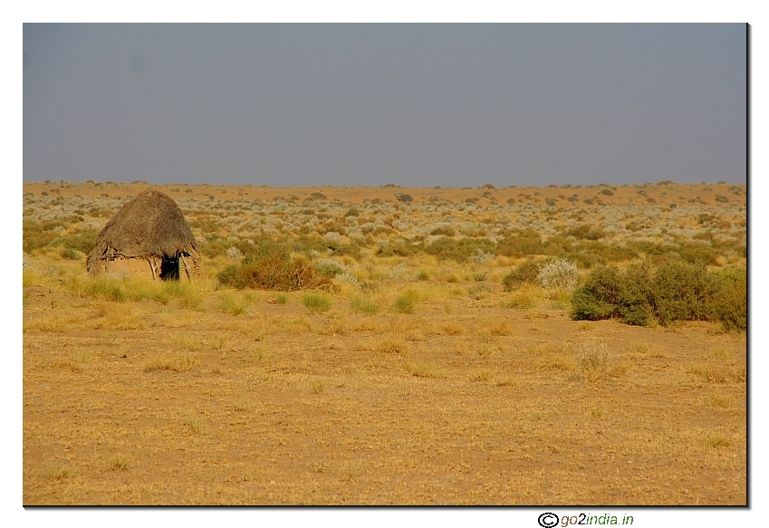 Inside desert a house