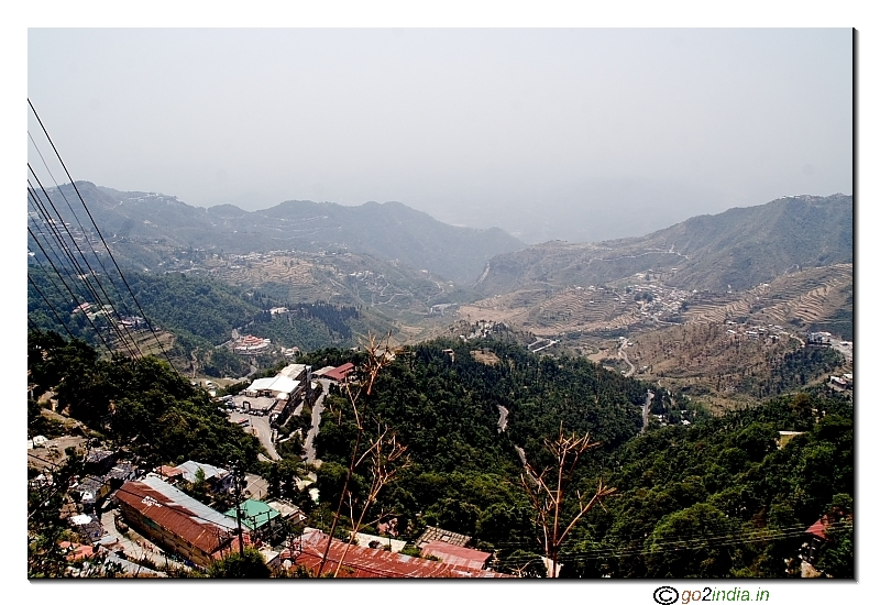 Mussoorie hill sation valley view from the Mall road area