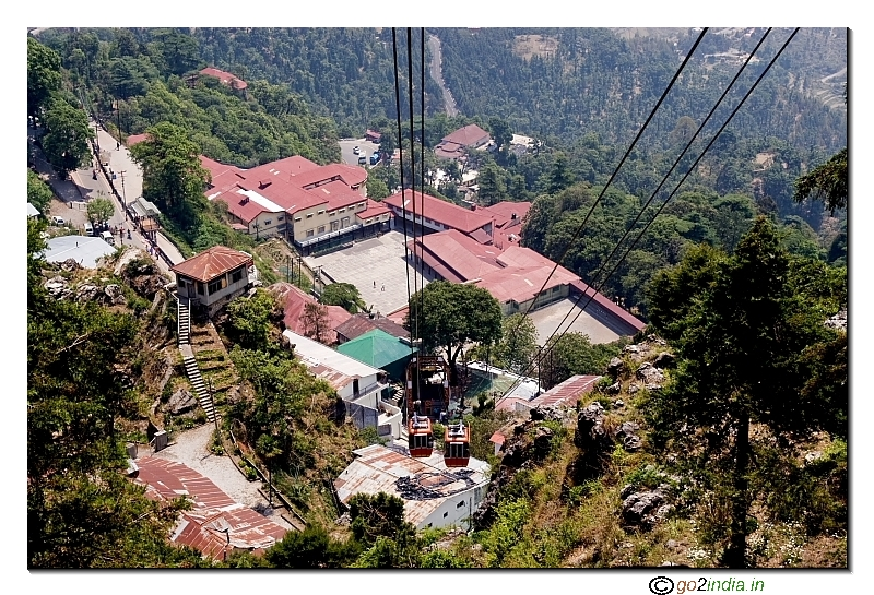 Cable cars at Mussoorie hill station