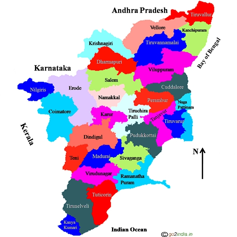 Tamilnadu travel places to visit tamilnadu state map gumiabroncs Gallery