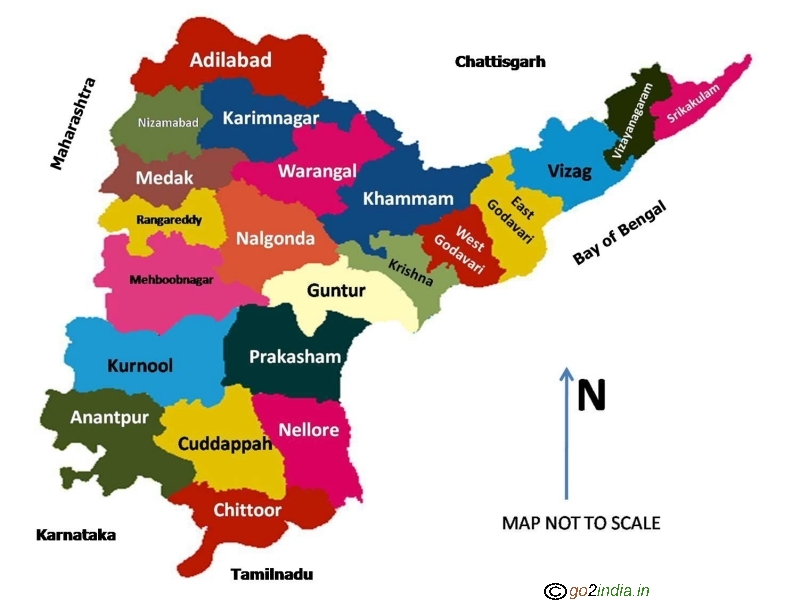 andhra pradesh and telangana map with districts Andhra Pradesh Ap Telangana Tourist Destinations Places To Visit andhra pradesh and telangana map with districts
