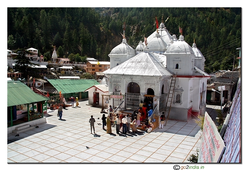 Gangotri temple from a height:
