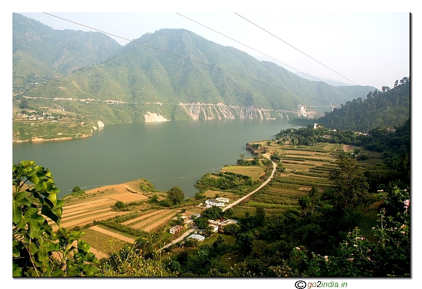 Water stagnation due to Tehri dam at Uttarakhand