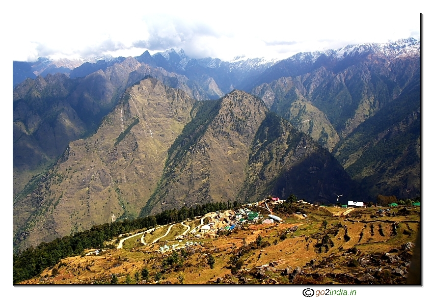 Auli at a height and slope