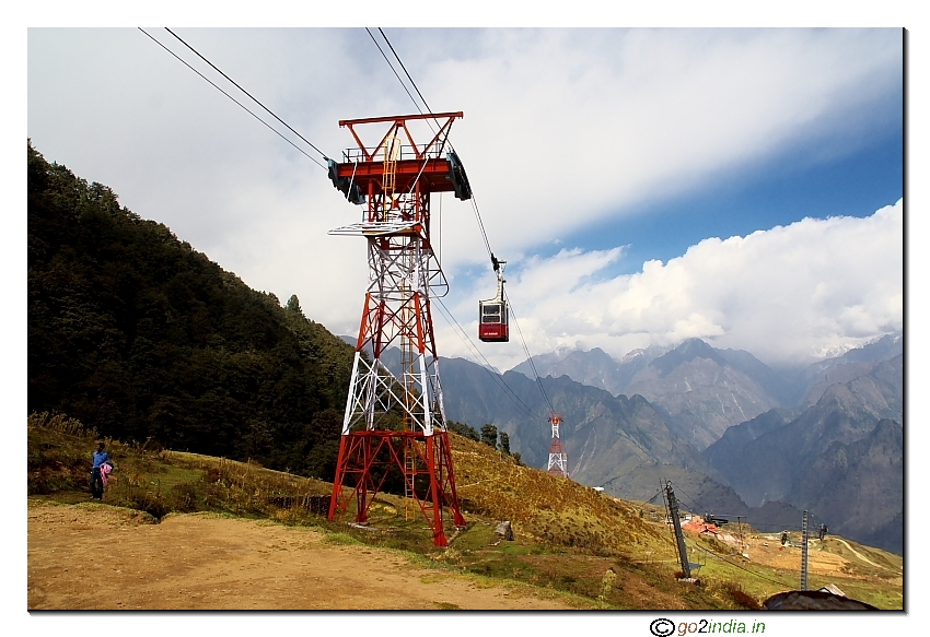 Cable car at Auli