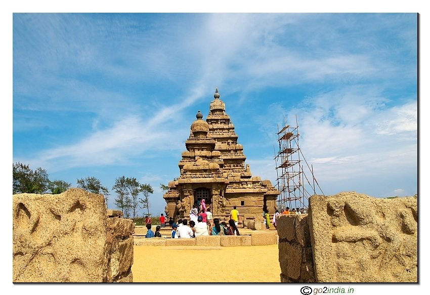 Sea side temples at Mahavalipuram