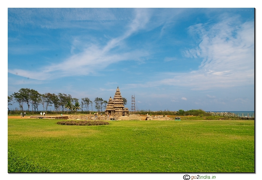 8th century temple at Mahabalipuram by the side of sea