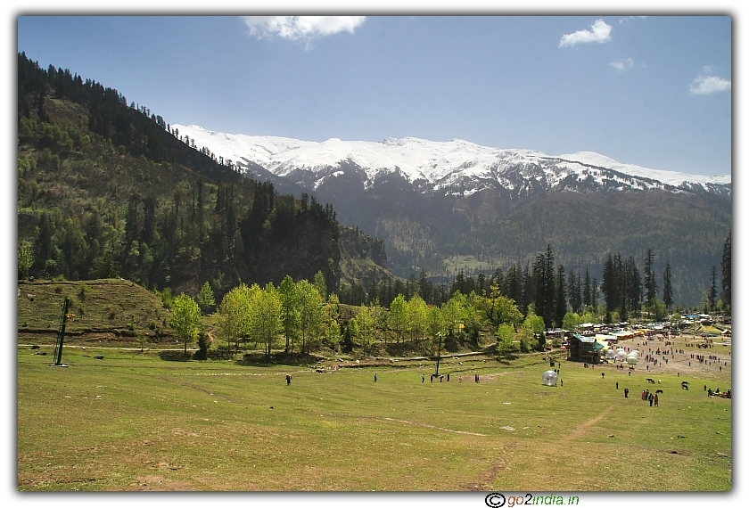 Solang valley adventurous sports area at Manali