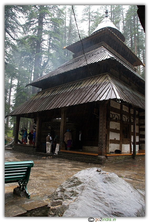 Hadimba Devi temple front view at Manali