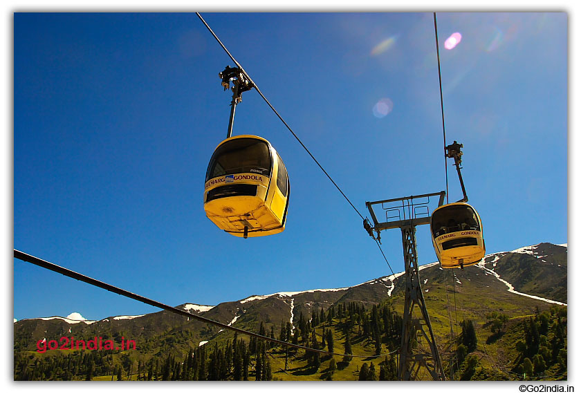 Cable Car at Gulmarg known as Gondola