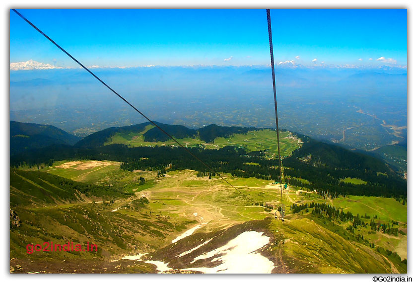 View from Aparwath of Gulmarg from Cable car