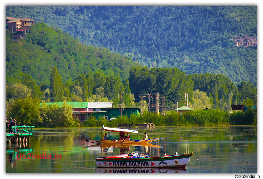 Dal Lake and hills around at Srinagar